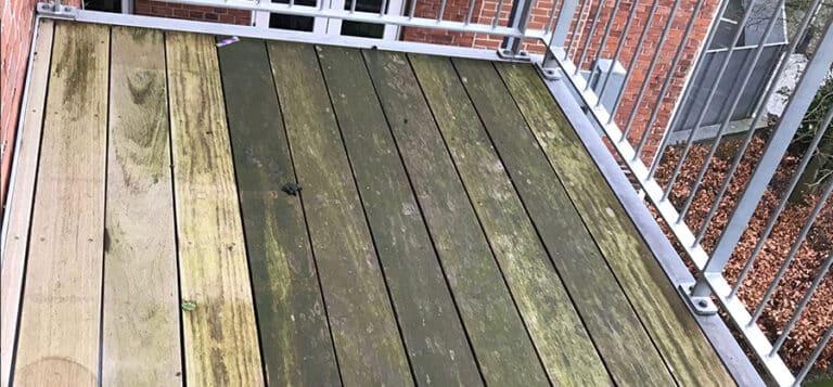 træterrasse rensning før 1
