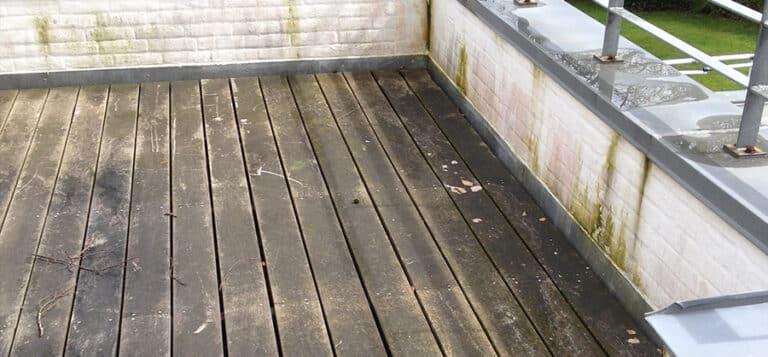 træterrasse rensning før 2
