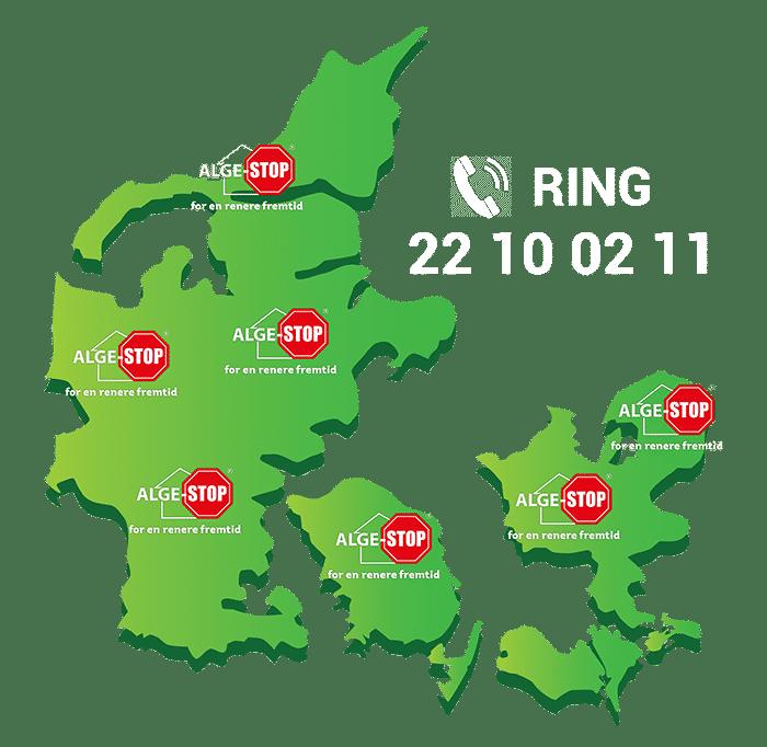 alge-stop landkort